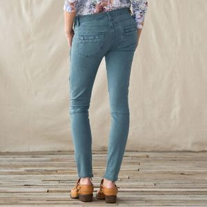 PAIGE Marley Moto Skinny Jeans Green - 28